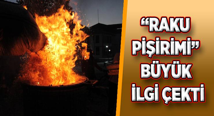 """""""RAKU PİŞİRİMİ"""" YALI EVLERİ'NDE YAPILDI"""