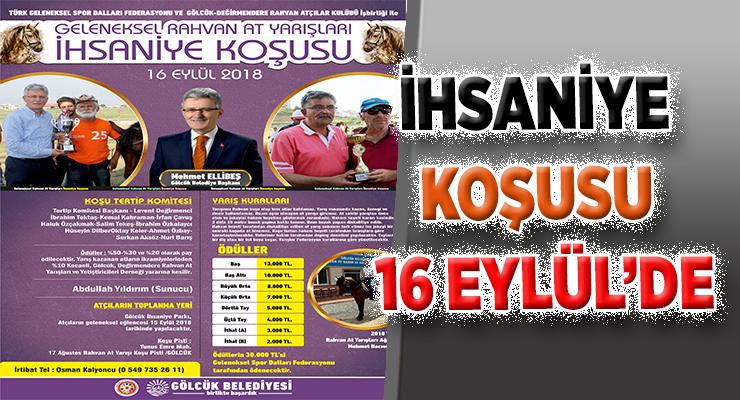 İHSANİYE KOŞUSU 16 EYLÜL'DE