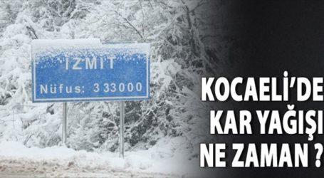 Kocaeli'de kar yağacak mı?