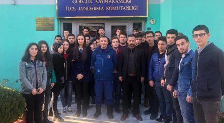 Ülkü Ocaklarından Jandarma Komutanlığına ziyaret
