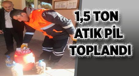1,5 TON ATIK PİL TOPLANDI