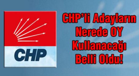 CHP'li Adayların Nerede Oy Kullanacağı Belli Oldu!