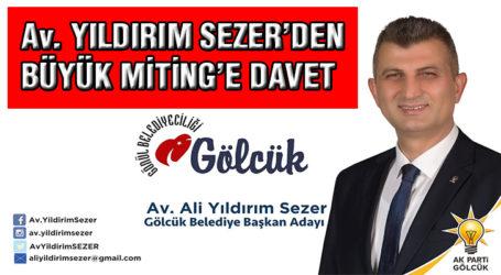 Av. YILDIRIM SEZER'DEN DAVET