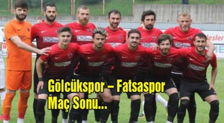 Gölcükspor – Fatsa Belediyespor Maç Sonu