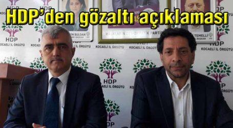 HDP'den gözaltı açıklaması