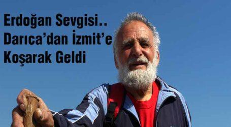 Erdoğan Sevgisi.. Darıca'dan İzmit'e Koşarak Geldi