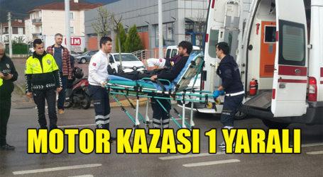 MOTOR KAZASI 1 YARALI