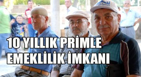 Primi az çalışana emeklilik imkanı