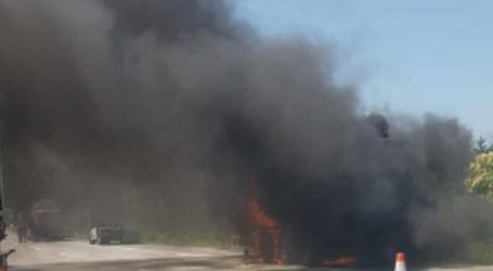 TEM'de tır yangını korkuttu