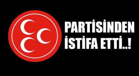 PARTİSİNDEN İSTİFA ETTİ..!