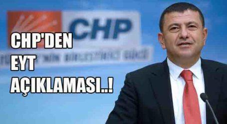 CHP'DEN EYT AÇIKLAMASI..!