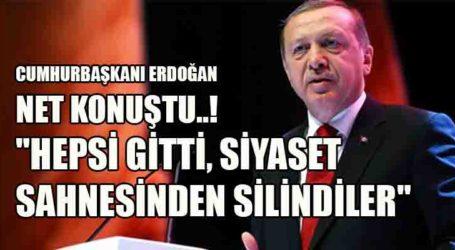 """""""HEPSİ GİTTİ, SİYASET SAHNESİNDEN SİLİNDİLER"""""""