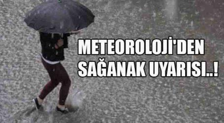 METEOROLOJİ'DEN SAĞANAK UYARISI..!