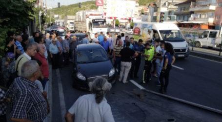 Halıdere'de kaza 3 yaralı