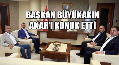 Başkan Büyükakın, Kocaeli Milletvekili Haydar Akar'ı konuk etti