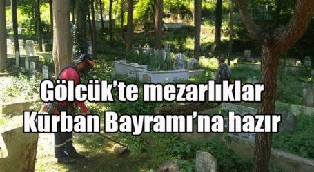 Gölcük'te mezarlıklar Kurban Bayramı'na hazır