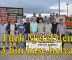 Türk Metal'den 3 bin kase helva