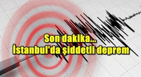 Son dakika… İstanbul'da şiddetli deprem