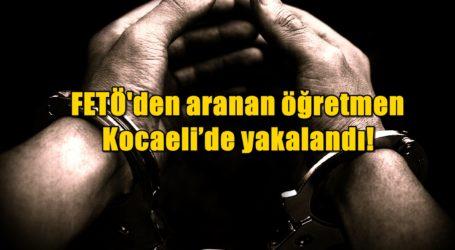 FETÖ'den aranan öğretmen Kocaeli'de yakalandı!