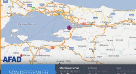 Marmara'da Peşpeşe 3 Deprem