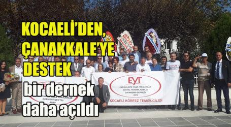 KOCAELİ'DEN, ÇANAKKALE'YE DESTEK