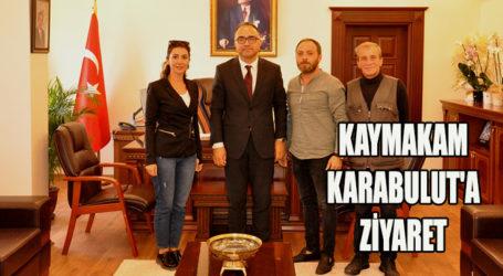 VİZYON GAZETESİNDEN, KAYMAKAM KARABULUT'A ZİYARET