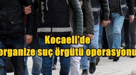 Kocaeli'de organize suç örgütü operasyonu