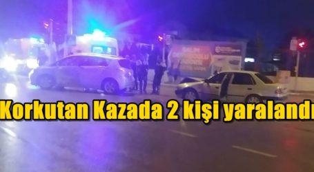 Korkutan Kazada 2 kişi yaralandı