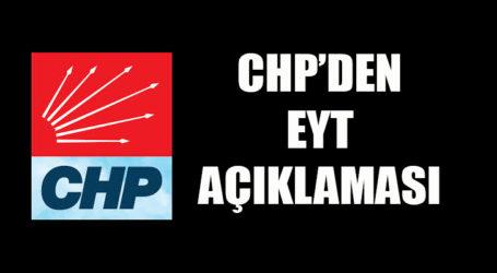 CHP'DEN BİR AÇIKLAMA DAHA