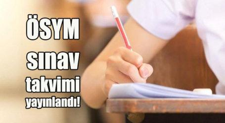ÖSYM sınav takvimi yayınlandı!