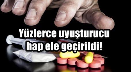 Yüzlerce uyuşturucu hap ele geçirildi!