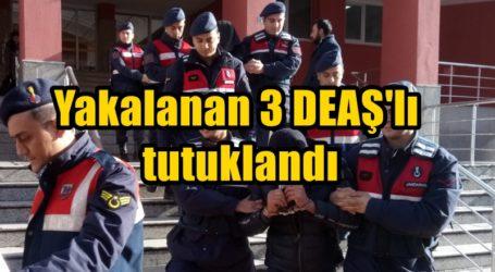 Yakalanan 3 DEAŞ'lı tutuklandı