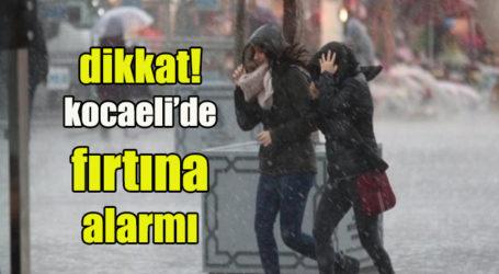 dikkat! kocaeli'de fırtına alarmı