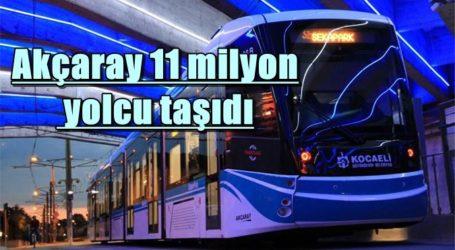 Akçaray 11 milyon yolcu taşıdı