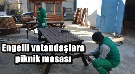Engelli vatandaşlara piknik masası