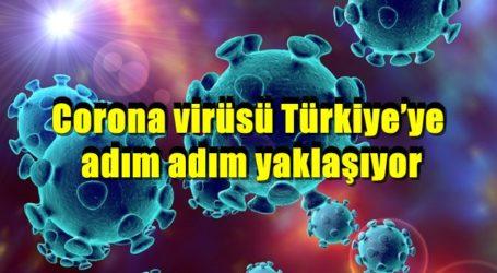 Corona virüsü Türkiye'ye adım adım yaklaşıyor