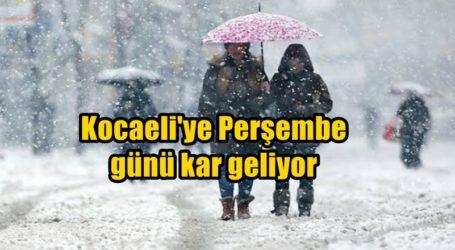 Kocaeli'ye Perşembe günü kar geliyor