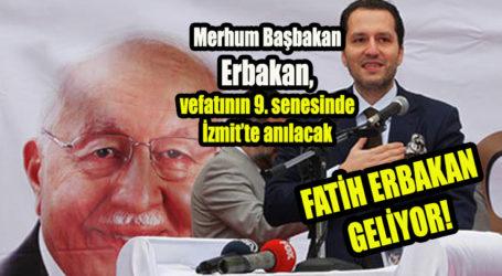 Erbakan, vefatının 9. senesinde İzmit'te anılacak
