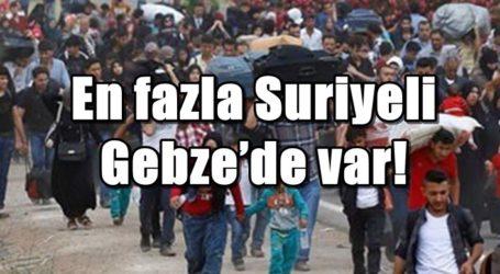 En fazla Suriyeli Gebze'de var!