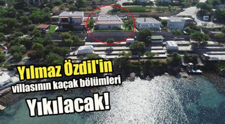 Yılmaz Özdil'in villasının kaçak bölümleri Yıkılacak!
