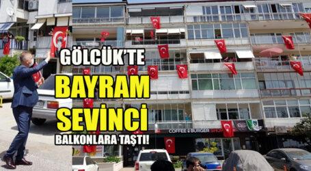 GÖLCÜK'TE BAYRAM SEVİNCİ BALKONLARA TAŞTI!