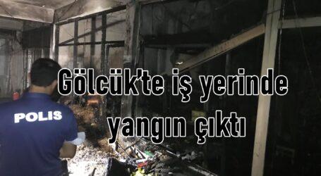 Gölcük'te iş yerinde yangın çıktı