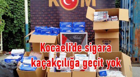 Kocaeli'de sigara kaçakçılığa geçit yok