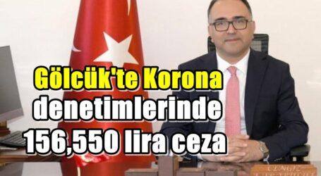 Gölcük'te Korona denetimlerinde 156,550 lira ceza
