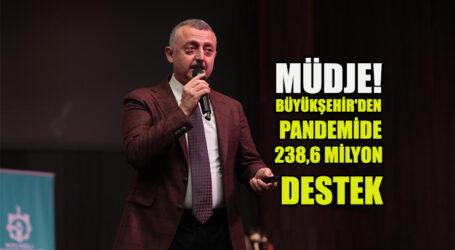 MÜDJE! BÜYÜKŞEHİR'DEN PANDEMİDE 238,6 MİLYON DESTEK