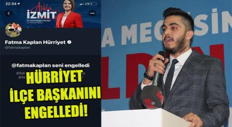 HÜRRİYET İLÇE BAŞKANINI ENGELLEDİ!