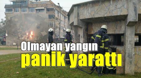Olmayan yangın panik yarattı