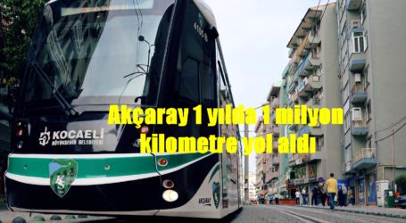 Akçaray 1 yılda 1 milyon kilometre yol aldı