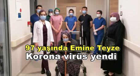 97 yaşında korona virüs yendi