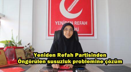Yeniden Refah Partisinden Öngörülen susuzluk problemine çözüm